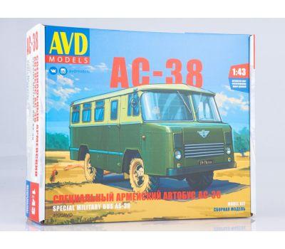 Специальный армейский автобус АС-38 (KIT) металл масштаб 1:43 4020AVD, фото 1