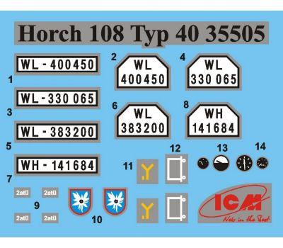 Horch 108 Typ 40 масштаб 1:35 ICM35505, фото 10