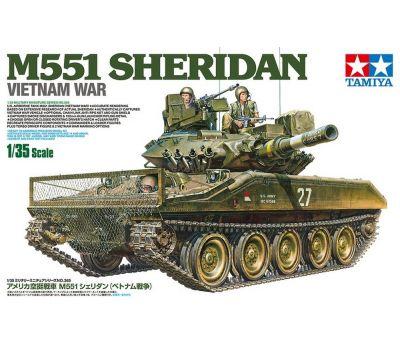 M551 Sheridan, Вьетнам, с 3 фигурами масштаб 1:35 Tamiya 35365, фото 1