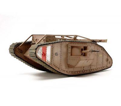 Английский танк Mk.IV Male с 5 фигурами, в комплекте моторчик с редуктором масштаб 1:35 Tamiya 30057, фото 1