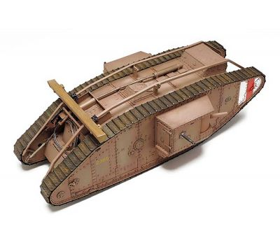 Английский танк Mk.IV Male с 5 фигурами, в комплекте моторчик с редуктором масштаб 1:35 Tamiya 30057, фото 6