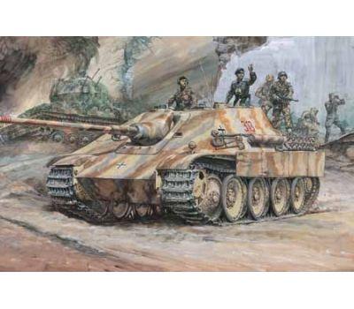 Jagdpanther с 4 фигурами масштаб 1:25 Tamiya 30607, фото 2