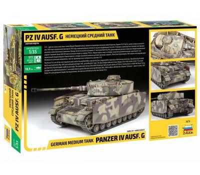 Немецкий средний танк Pz IV Ausf. G масштаб 1:35 ZV3674, фото 8