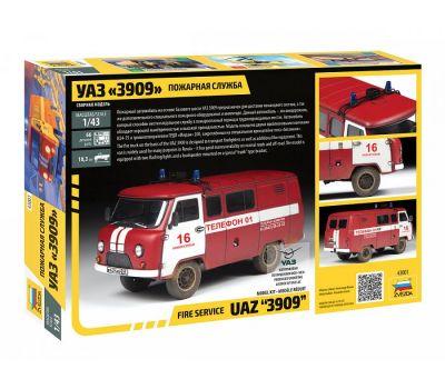 УАЗ 3909 Пожарная служба масштаб 1:43 ZV43001, фото 2