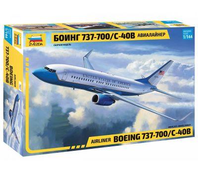 Пассажирский авиалайнер Боинг 737-700 С-40B масштаб 1:144 ZV7027, фото 1