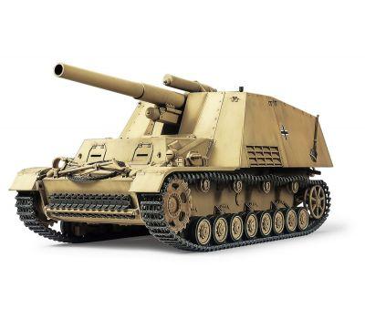 Немецкое тяжелое самоходное 150мм орудие HUMMEL с 3-мя фигурами масштаб 1:35 Tamiya 35367, фото 1