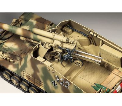 Немецкое тяжелое самоходное 150мм орудие HUMMEL с 3-мя фигурами масштаб 1:35 Tamiya 35367, фото 2