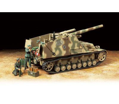 Немецкое тяжелое самоходное 150мм орудие HUMMEL с 3-мя фигурами масштаб 1:35 Tamiya 35367, фото 4