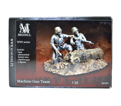 Пулеметная команда (Machine gun team) 1МВ (смола) масштаб 1:35 MM35120, фото 1