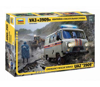 УАЗ 3909 Аварийно-спасательная служба масштаб 1:43 ZV43002, фото 1